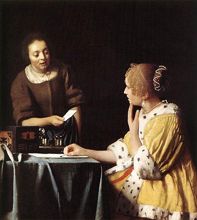 Lady with Her Maidservant - Jan Vermeer van Delft