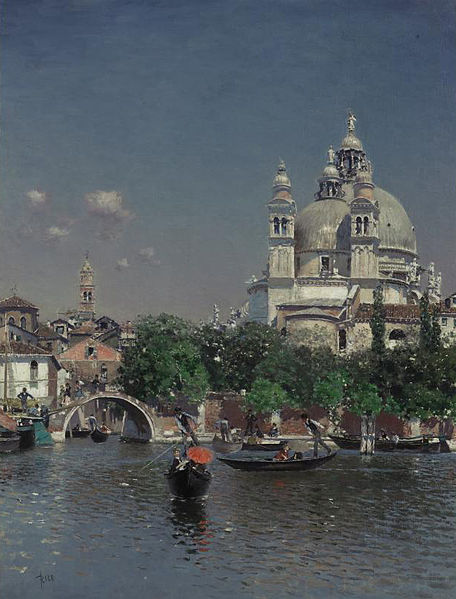 Lagoon near the Church of Santa Maria della Salute - Martin Rico Ortega