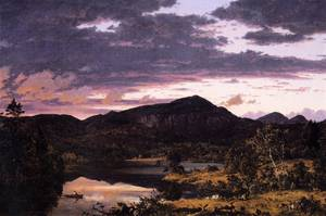 Lake Scene in Mount Desert - Frederic Edwin Church
