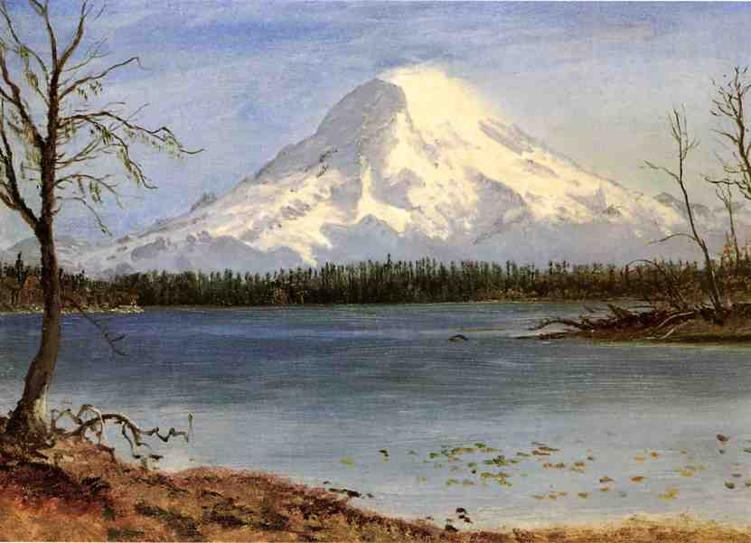 Lake in the Rockies - Albert Bierstadt