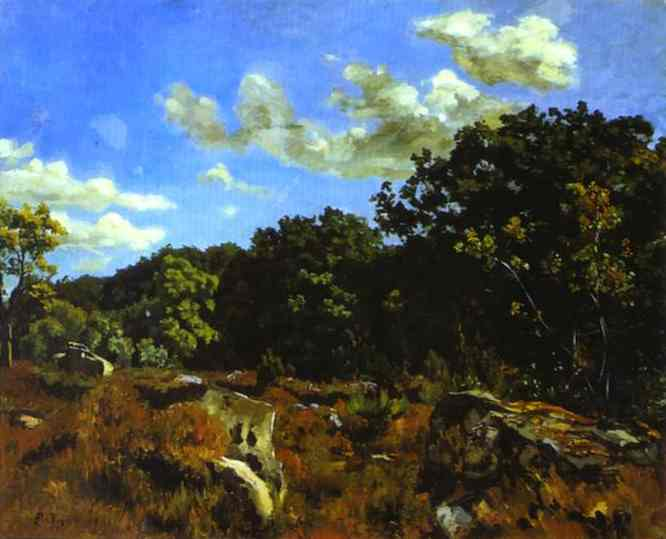 Landscape at Chailly - Frederic Bazille