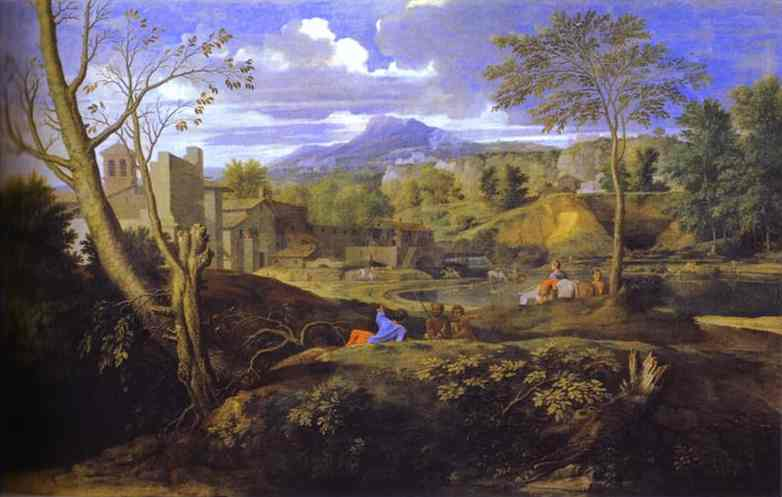 Landscape with Three Men - Nicolas Poussin