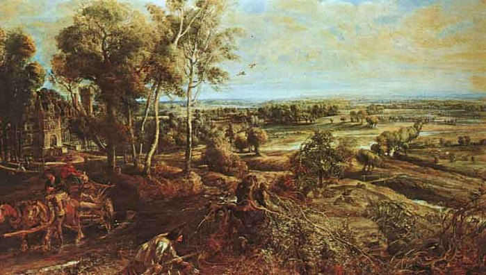 Landscape with the Chateau Steen - Peter Paul Rubens