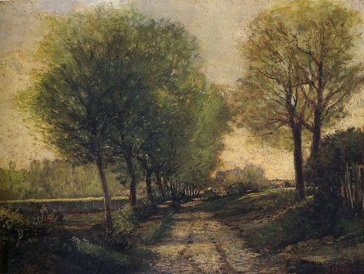 Lane Near a Small Town - Alfred Sisley