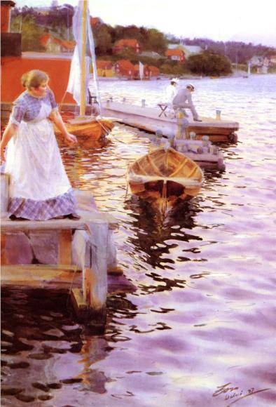 Vigskvalp (Lappings of the Waves) - Anders Zorn