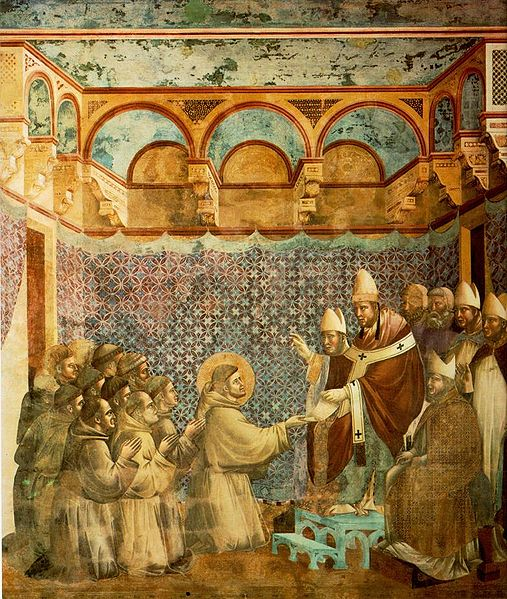 Legend of St Francis, Confirmation of the Rule - Giotto di Bondone
