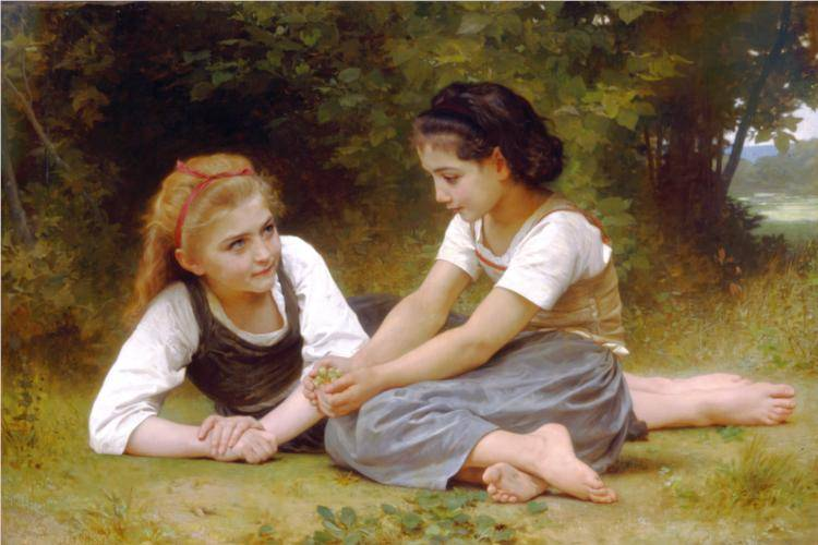Les Noisettes - William Adolphe Bouguereau