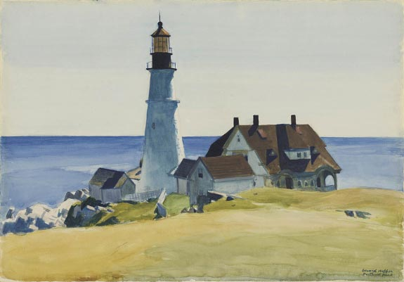 Lighthouse and Building, Portland Head - Edward Hopper