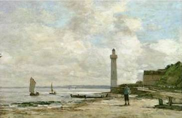 Lighthouse at Honfleur - Eugene Boudin