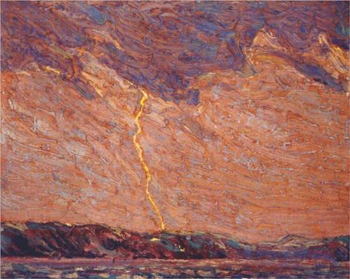 Lightning, Canoe Lake - Tom Thomson
