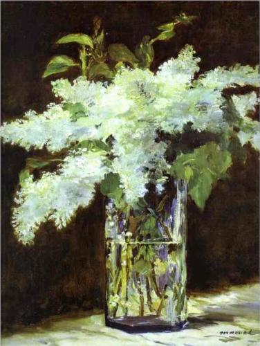 Lilac in a Glass - Edouard Manet