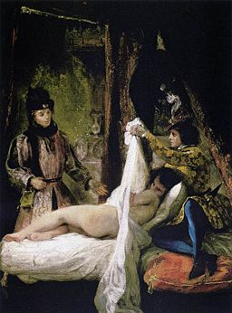 Louis of Orleans Unveiling his Mistress - Eugene Delacroix