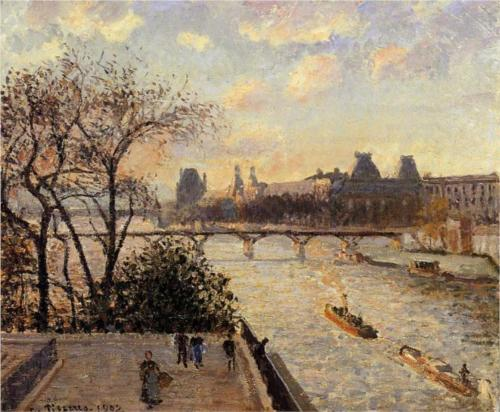 Louvre and the Seine from the Pont Neuf - Camille Pissarro