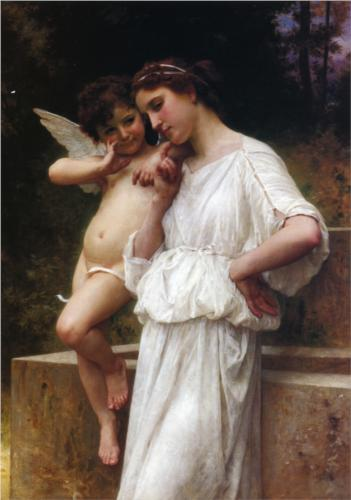 Love's Secrets - William Adolphe Bouguereau