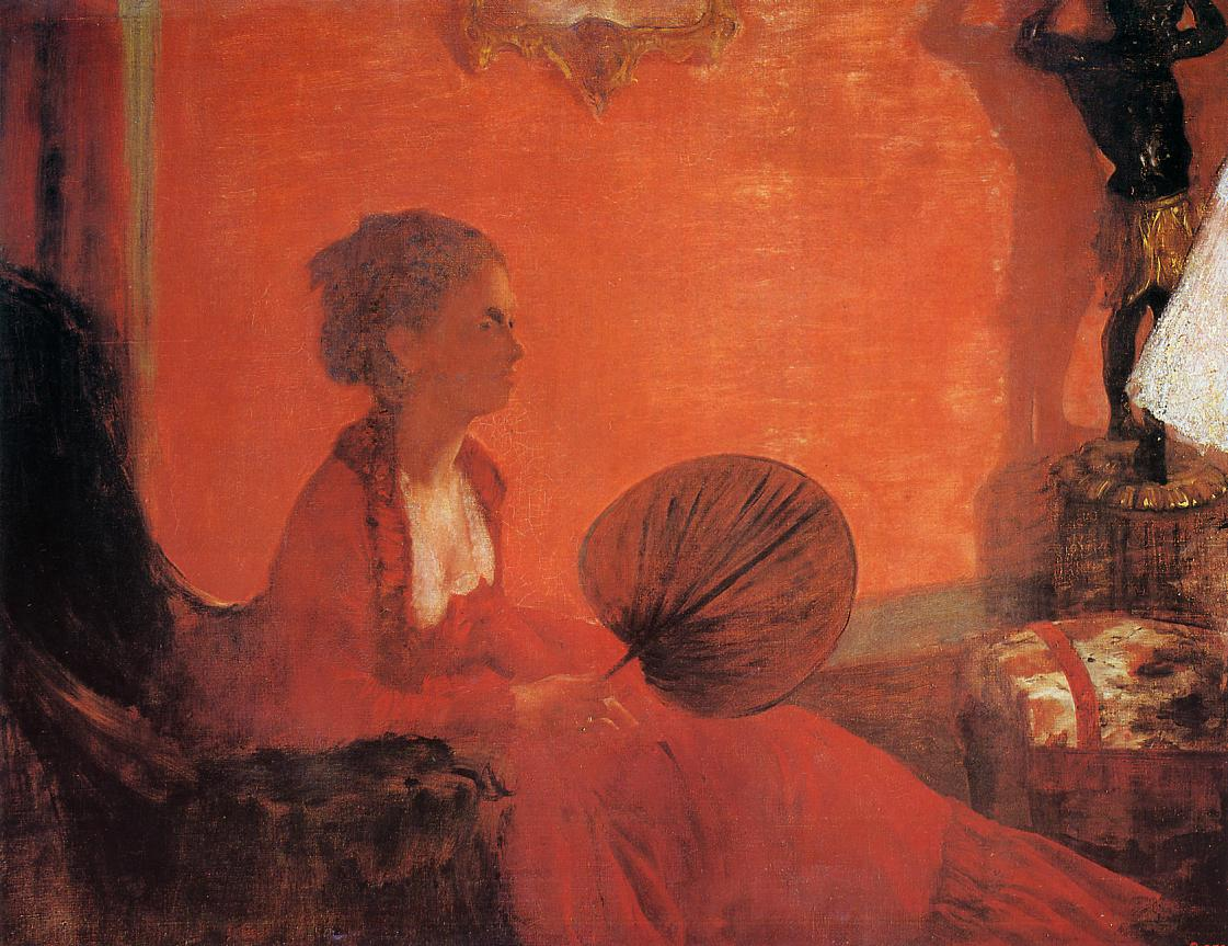 Madame Camus with a Fan - Edgar Degas