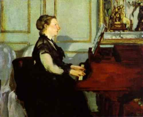 Madame Manet at the Piano - Edouard Manet