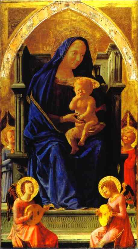 Madonna Enthroned - Masaccio