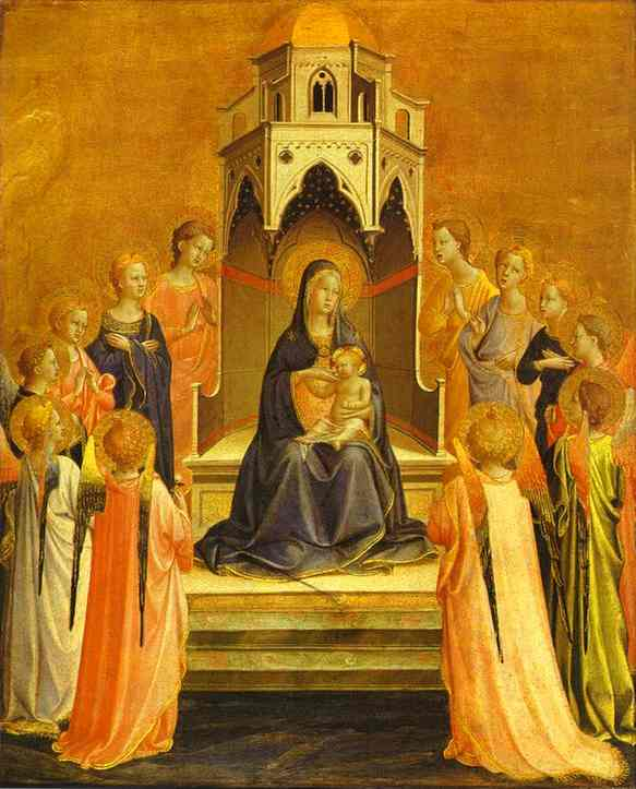 Madonna Surrounded by Angels - Fra Angelico