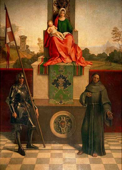 Madonna and Child Enthroned between St Francis and St Liberalis - Giorgione (Giorgio Barbarelli da Castelfranco)