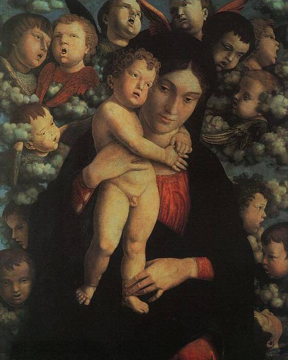 Madonna and Child with Cherubs - Andrea Mantegna