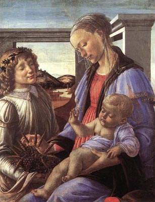 Madonna & Child with an Angel - Sandro Botticelli