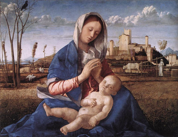 Madonna in a Meadow 1505 - Giovanni Bellini