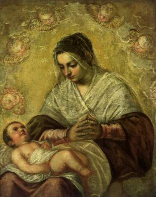 Madonna of the Stars - Jacopo Robusti Comin Tintoretto