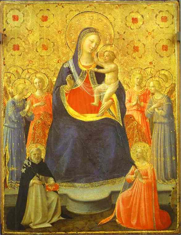 Madonna with Angels and the Saints Dominic and Catherine - Fra Angelico