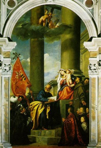 Madonna with Saints and the Pesaro Family - Titian
