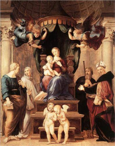 Madonna with the Baldachino - Raffaello Raphael Sanzio