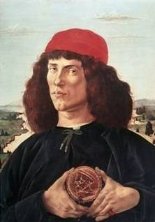 Man Holding a Medallion of Cosimo - Sandro Botticelli