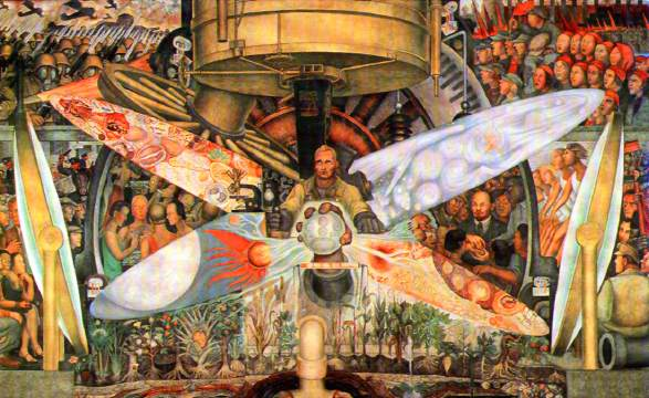 Diego rivera man at the crossroads for Diego rivera mural rockefeller