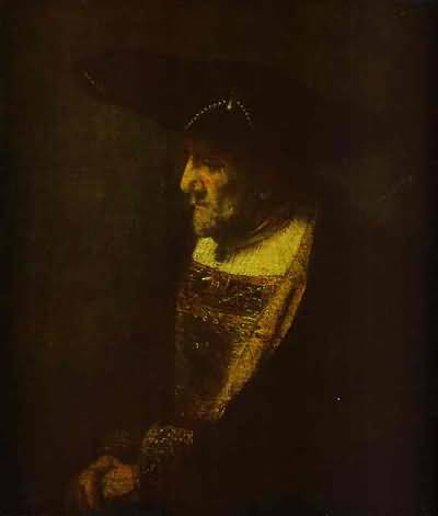 Man in the Hat Decorated with Pearls - Rembrandt van Rijn