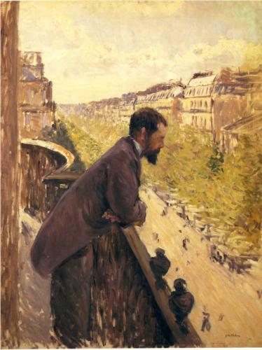 Man on the Balcony - Gustave Caillebotte