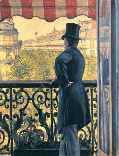 Man on the Balcony II - Gustave Caillebotte