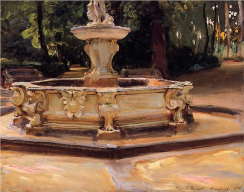 Marble Fountain at Aranjuez, Spain - John Singer Sargent
