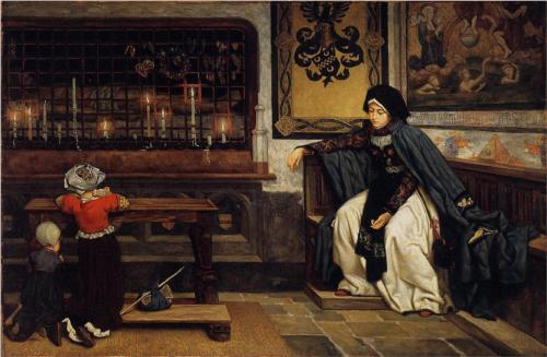 Marguerite in Church - James Tissot