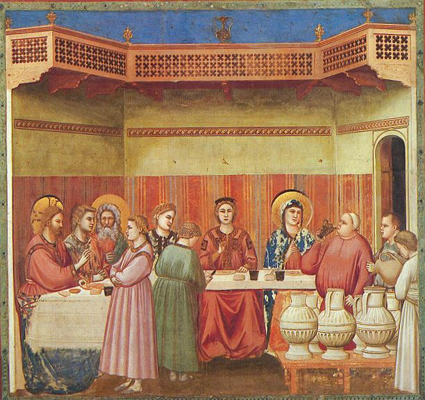 Marriage at Cana - Giotto di Bondone