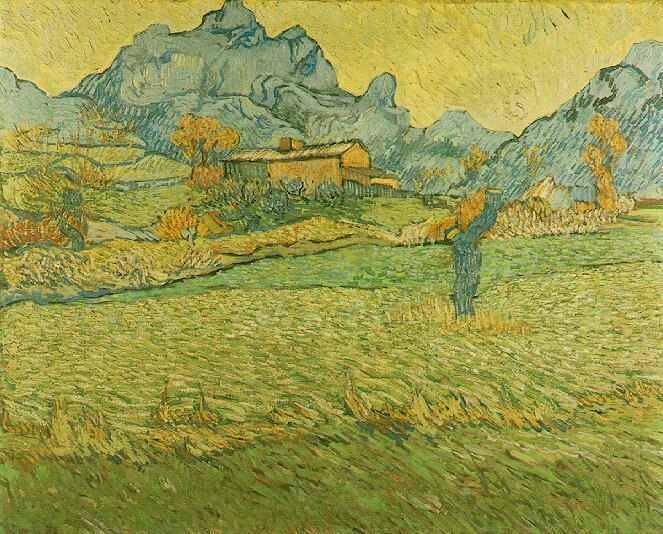 Meadows in the Mountain - Vincent van Gogh