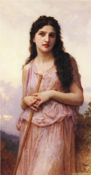 Meditation - William Adolphe Bouguereau