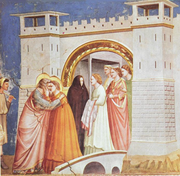Meeting at the Golden Gate - Giotto di Bondone