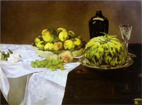 Melon and Peaches - Edouard Manet