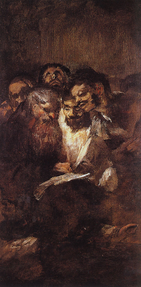 Men Reading - Francisco de Goya