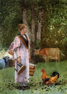 Milk Maid - Winslow Homer