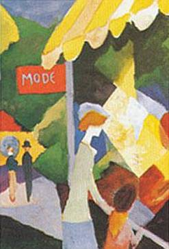 Milliner's Shop Window - August Macke