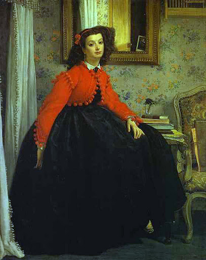 Mlle L.L. (Young Woman in Red Vest) - James Tissot