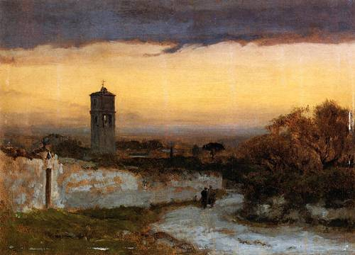 Monastery at Albano - George Inness