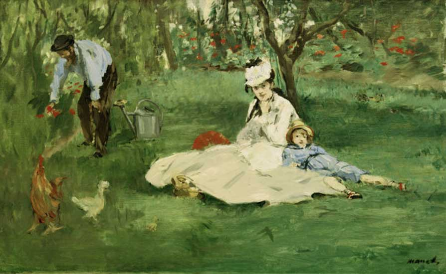 The Monet Family in the Garden - Edouard Manet