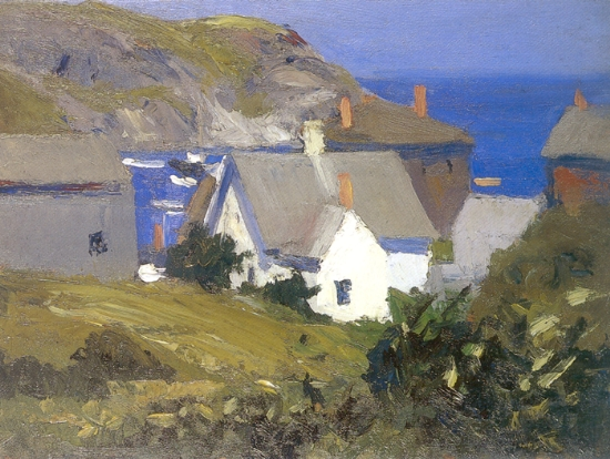 Monhegan Houses Maine - Edward Hopper