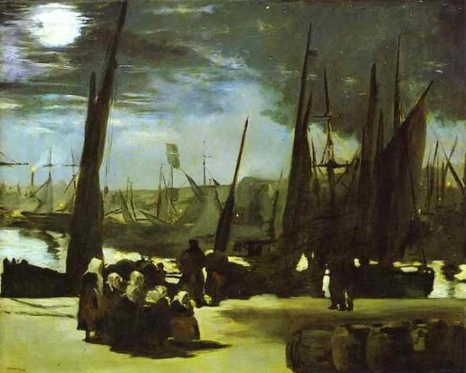 Moonlight over the Port of Boulogne - Edouard Manet